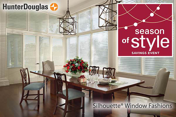 Hunter Douglas Silhouette® Window Fashions on sale during the Season of Style Savings Event!