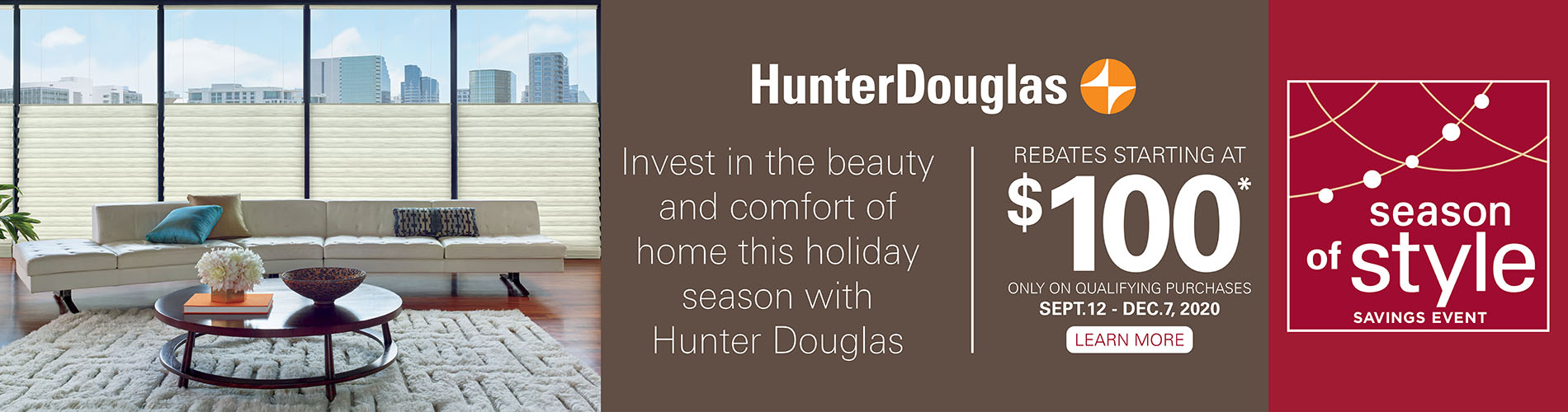 Hunter Douglas Window Treatment Sale at Arvid's Interiors in Chehalis, WA