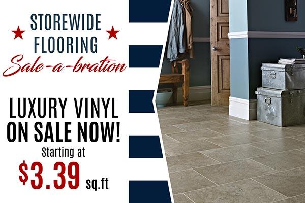 Luxury Vinyl Flooring Sale at Arvid's Interiors in Chehalis, WA