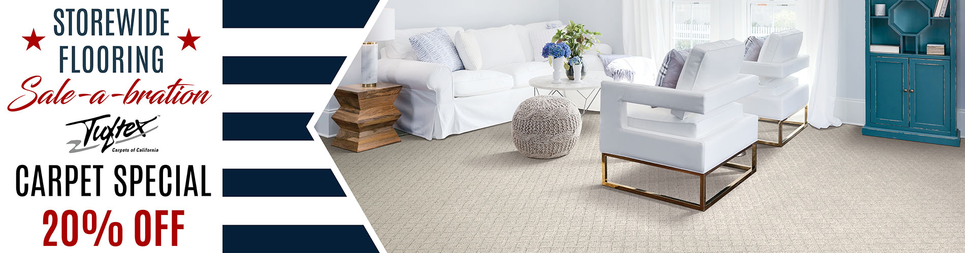 Tuftex Carpet Sale at Arvid's Interiors in Chehalis, WA